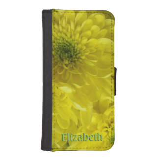 Joyful Yellow Flowers Personalized iPhone SE/5/5s Wallet