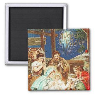Joyful Yuletide Vintage Magnet