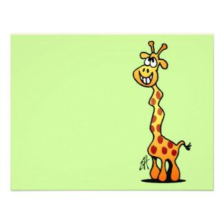 Joyfull Giraffe Personalized Announcements