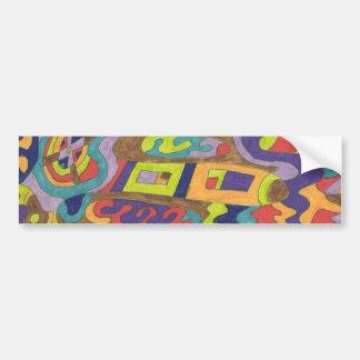 Joyfull Noise, abstract Bumper Sticker