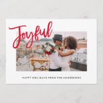 Joyfully Brushed Holiday Photo Card