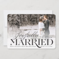Joyfully Married Holiday Wedding Announcement