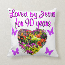 JOYOUS 90 YR OLD THROW PILLOW