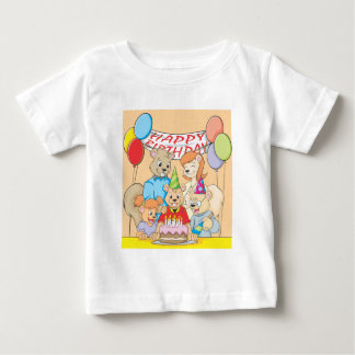 Joyous and colorful picture of a Squirrel Family Baby T-Shirt