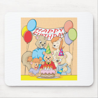 Joyous and colorful picture of a Squirrel Family Mouse Pad