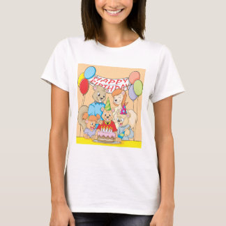 Joyous and colorful picture of a Squirrel Family T-Shirt