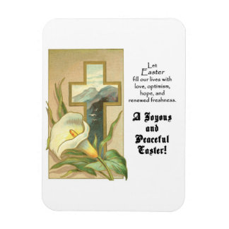 Joyous and Peaceful Easter Premium Magnet