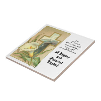 Joyous and Peaceful Easter Tile