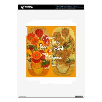 Joyous and sad  sunflowers decal for iPad 3