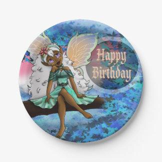 "Joyous Birthday Paper Plates 7"", Fairy"