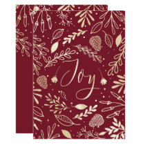 Joyous Branches Elegant Holiday Greeting Card