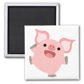 Joyous Cartoon Pig Magnet