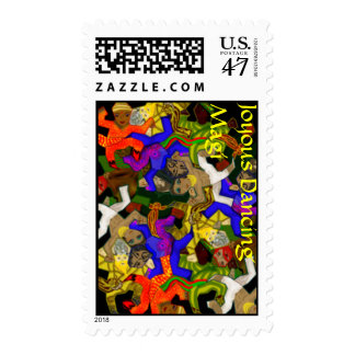 Joyous Dancing Magi - Tesselated Postage