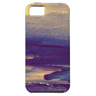 Joyous Day Ocean Scape Purple Gold Sunset iPhone 5 Covers