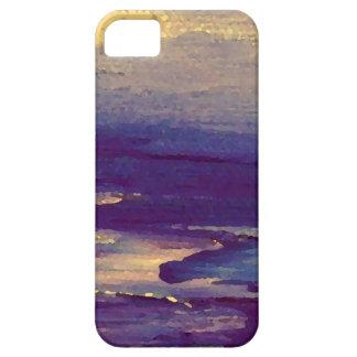 Joyous Day Ocean Scape Purple Gold Sunset iPhone 5 Case