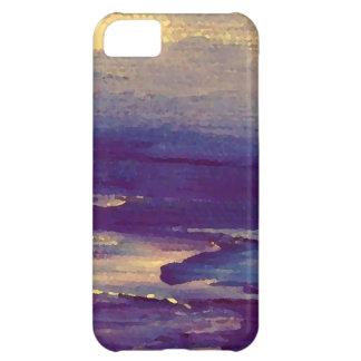 Joyous Day Ocean Scape Purple Gold Sunset iPhone 5C Cases