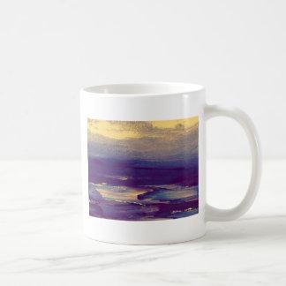 Joyous Day Ocean Scape Purple Gold Sunset Classic White Coffee Mug