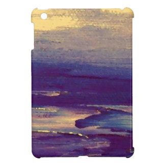Joyous Day Ocean Scape Purple Gold Sunset iPad Mini Covers