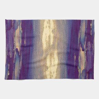 Joyous Day Ocean Scape Purple Gold Sunset Kitchen Towel