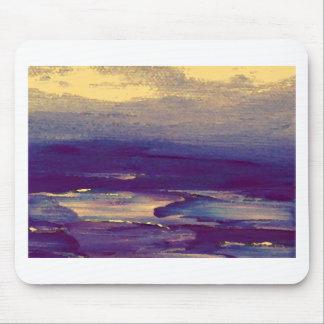Joyous Day Ocean Scape Purple Gold Sunset Mouse Pad
