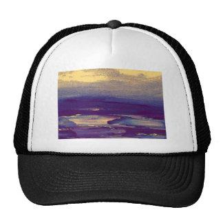 Joyous Day Ocean Scape Purple Gold Sunset Trucker Hat