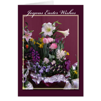 Joyous Easter Greeting Card - Floral Bouquet