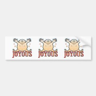 Joyous Fat Man Bumper Sticker