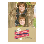 Joyous Holiday Photo Card Custom Announcement