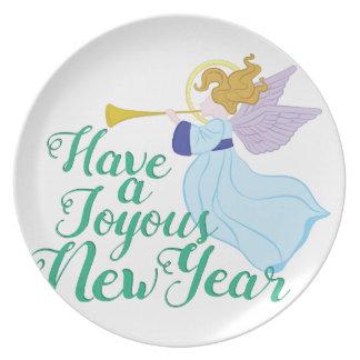 Joyous New Year Dinner Plate