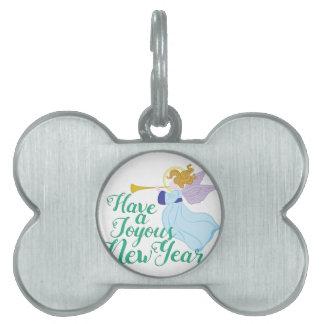 Joyous New Year Pet ID Tag