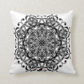 Joyous Octa Glyph Throw Pillow