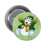 Joyous Snowman Button