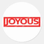 Joyous Stamp Classic Round Sticker