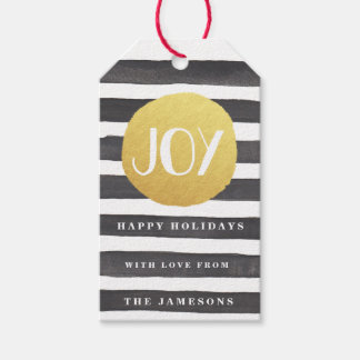 Joyous Stripes Holiday Gift Tags