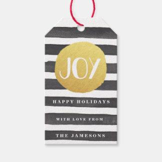 Joyous Stripes Holiday Gift Tags