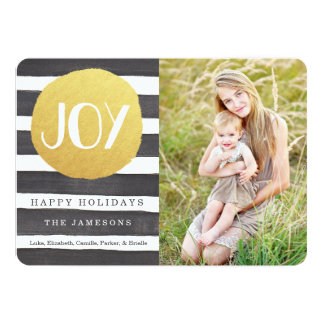 Joyous Stripes Holiday Photo Card