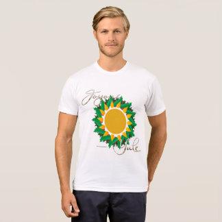 Joyous Sun Wreath Men's Poly-Cotton T-Shirt