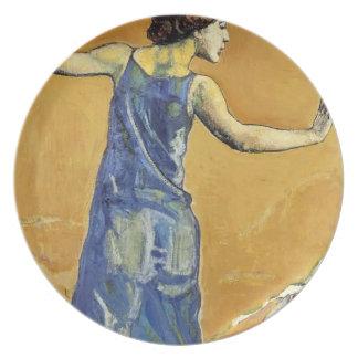 Joyous Woman by Ferdinand Hodler Dinner Plate