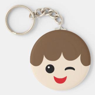 JoyousBFacesP9 Basic Round Button Keychain