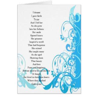 Joy's Birth Poem Card