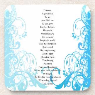 Joy's Birth Poem Drink Coaster