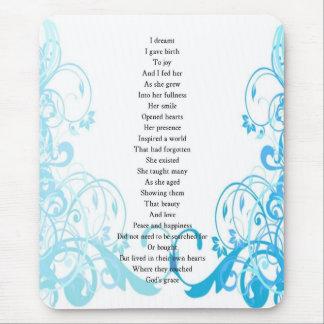 Joy's Birth Poem Mouse Pad
