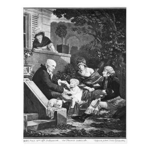 Joys of being a father, c.1797 postcard