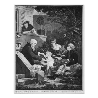 Joys of being a father, c.1797 poster