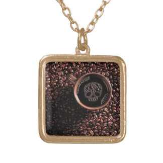 Joys of Coffee Gold Plated Necklace