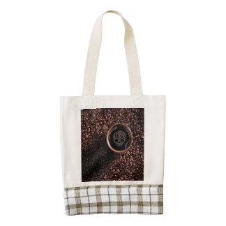 Joys of Coffee Zazzle HEART Tote Bag