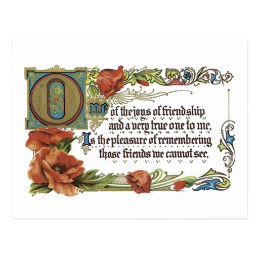Joys of Friendship Post Cards