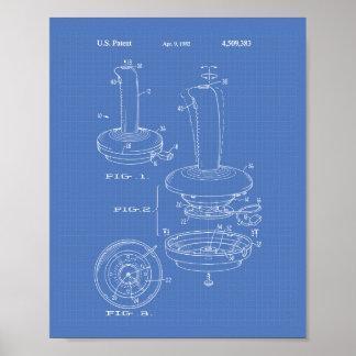 Joystick Controller 1985 Patent Art Blueprint Poster