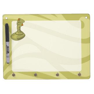 Joystick Dry Erase Board With Keychain Holder