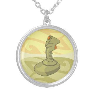 Joystick Silver Plated Necklace